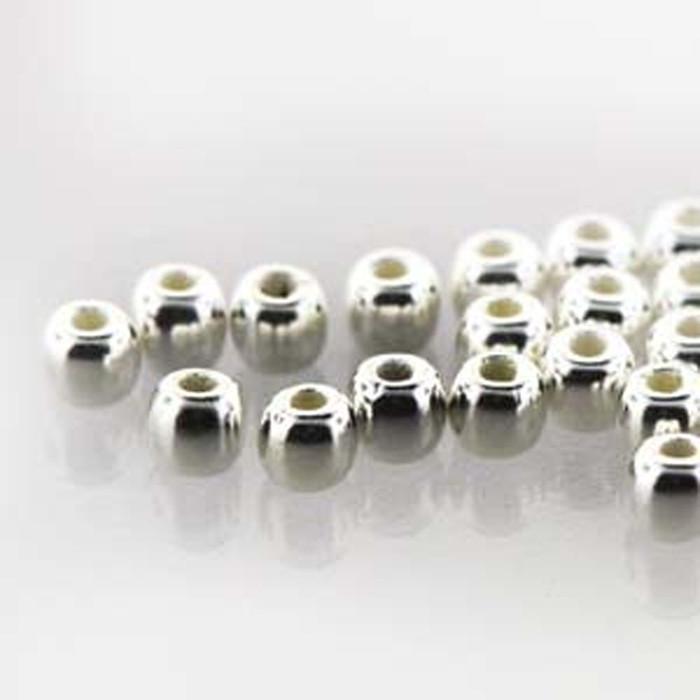 Round Druk True2s 2mm Czech Glass Fine Silver Plate 600 Beads-Loose