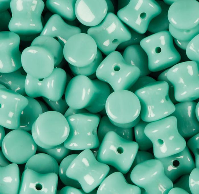 Opaque RTurquoise Green Preciosa Czech Glass 4x6mm Pellet 30 Beads