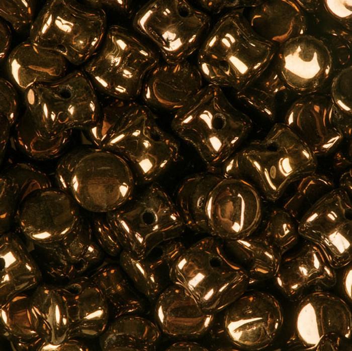 Jet Dark Bronze Preciosa Czech Glass 4x6mm Pellet 30 Beads
