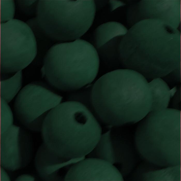 48  Green 22mm Macrame Large 5mm Hole Barrel Rose Wood Beads
