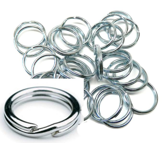 5 Pack 1-Inch Split KEY Ring Keychain Zinc Plated Steel USA