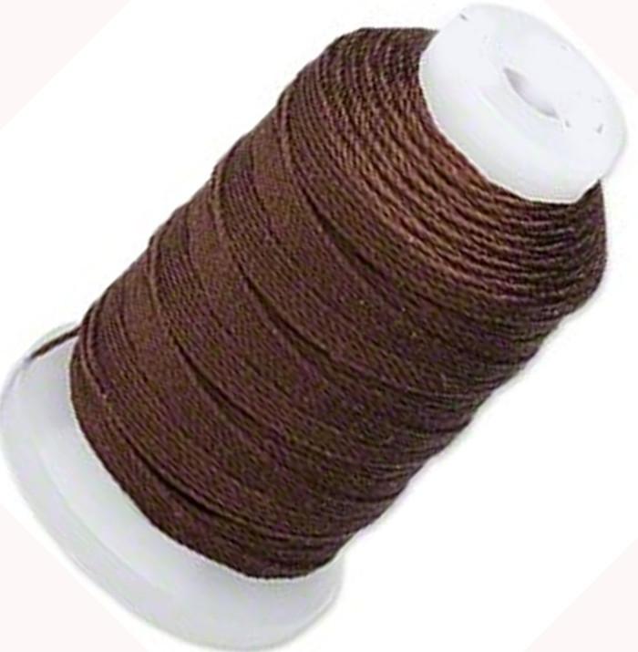 Silk Beading Thread Cord Size E Chestnut 0.0128 Inch 0.325mm Spool 200 Yd