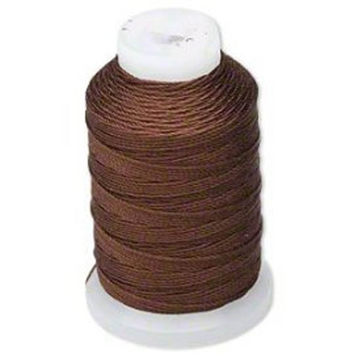 Silk Beading Thread Cord Size FF Chestnut 0.015 Inch 0.38mm Spool 115 Yd