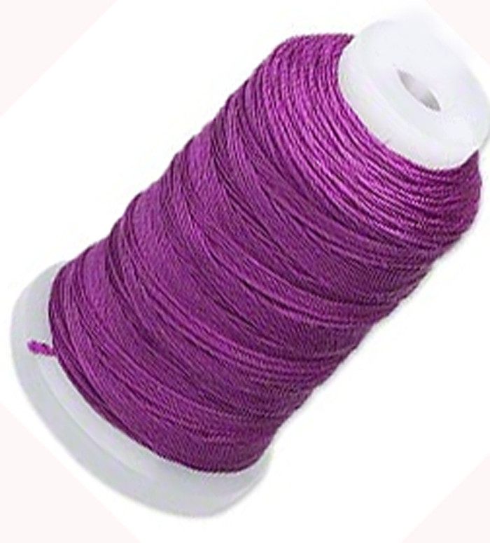 Silk Beading Thread Cord Size F Plum 0.0137 0.3480mm Spool 140 Yd