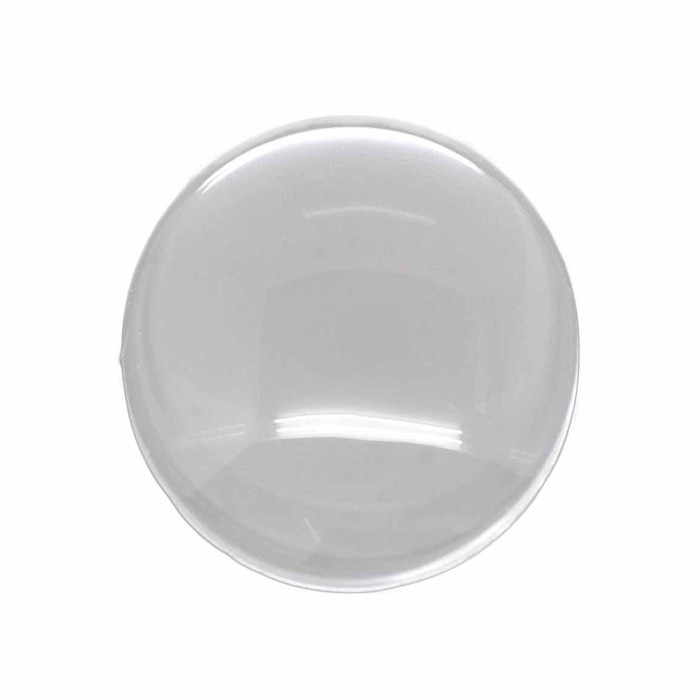 3 Clear Glass Dome Tile Cabochon Clear 25mm 1 Inch Non-calibrated Round