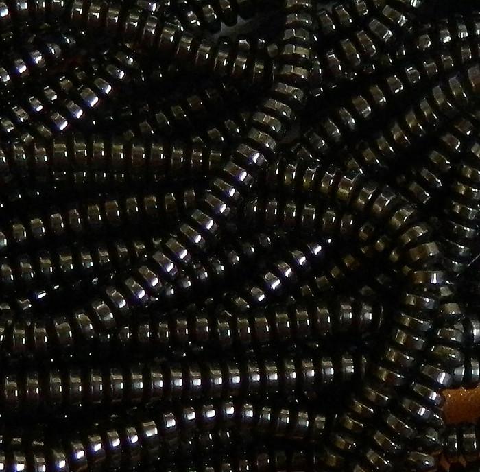 4mm Hematite Rondelle Gemstone Round Beads 15 inch loose Strand