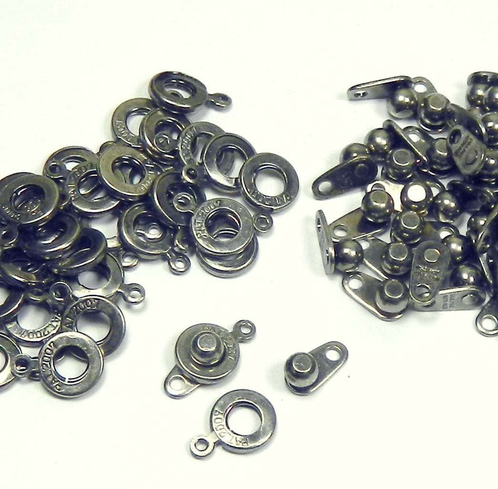 Premium Weight Ball & Socket Clasp 6mm Pewter 36 Clasps Findings