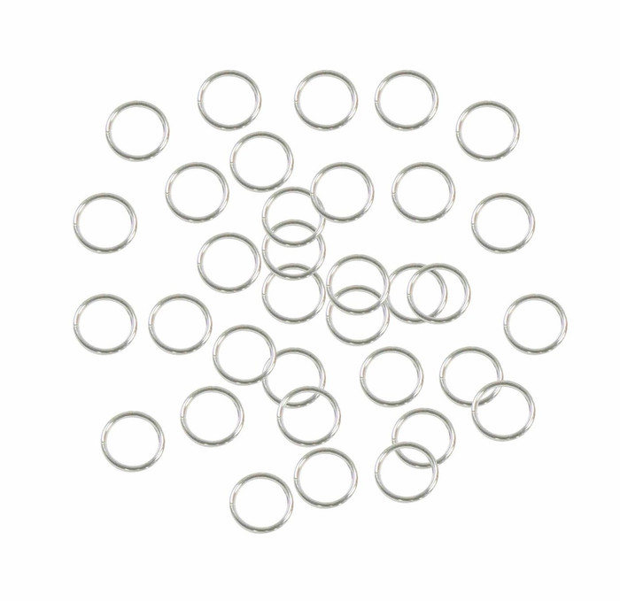 Soldered Closed 100 Jump Rings Silver-plated 7mm Round 18 Gauge