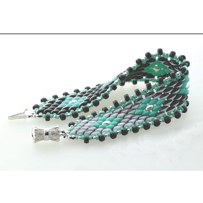 DUET WITH DIAMONDS COLOR SHIFTING BRACELET By Leslie Rogalski
