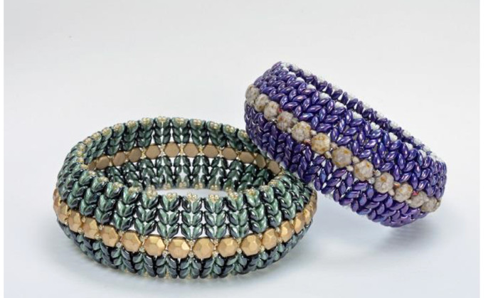 Superduo Honeycomb Bangle Free jewelry patern