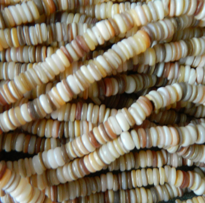 7-8mm Mother of Pearl Beads 15 Inch Loose Strand Gold Lip Shell Rondelle