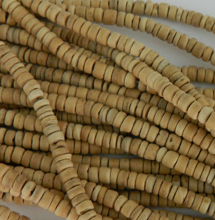 4-5mm Natural COCO Beads 15 inch Natural Loose Strand Light Brown