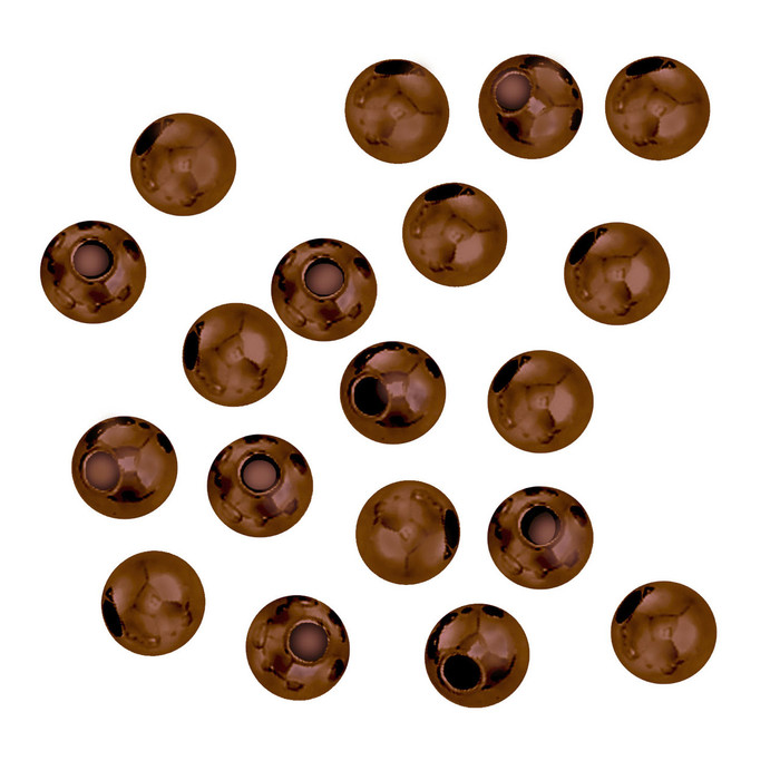 100 Antique Copper Plated Brass Beads 5mm Round Jewelry Spacer Metal Beads