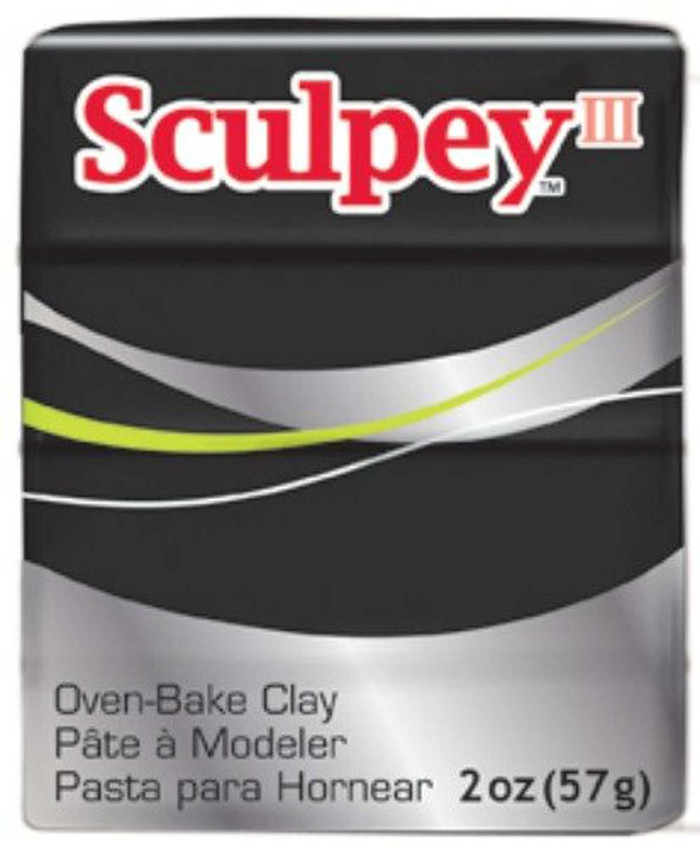 Sculpey III Original Polymer Clay, 2oz, Black