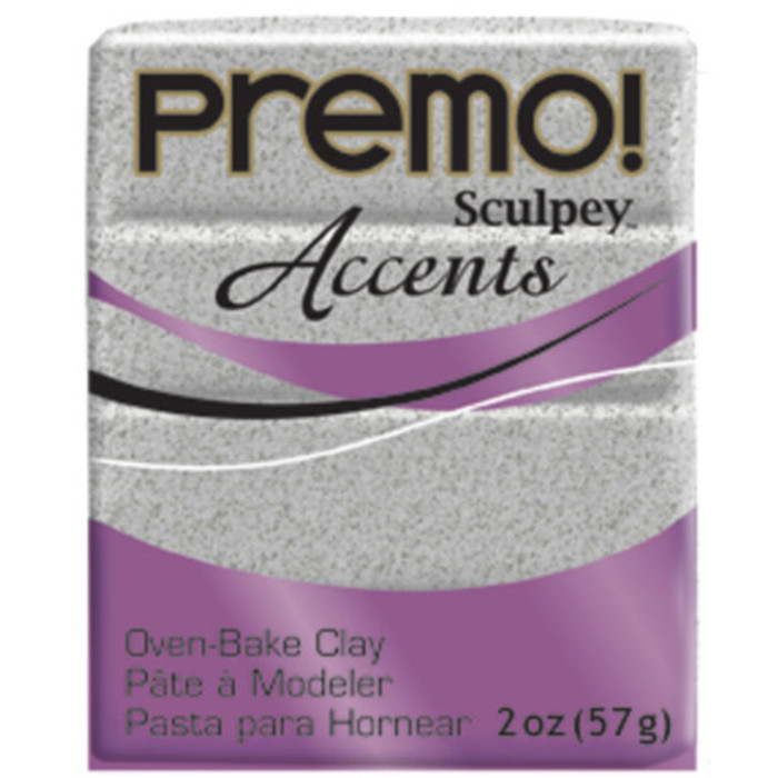 Sculpey Premo Accents Polymer Clay 2oz Gray Granite