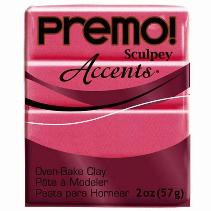 Sculpey Premo Accents Polymer Clay 2oz Magenta Pearl