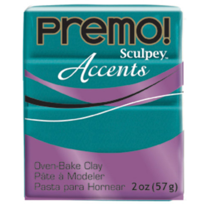 Sculpey Premo Accents Polymer Clay 2oz Peacock Pearl