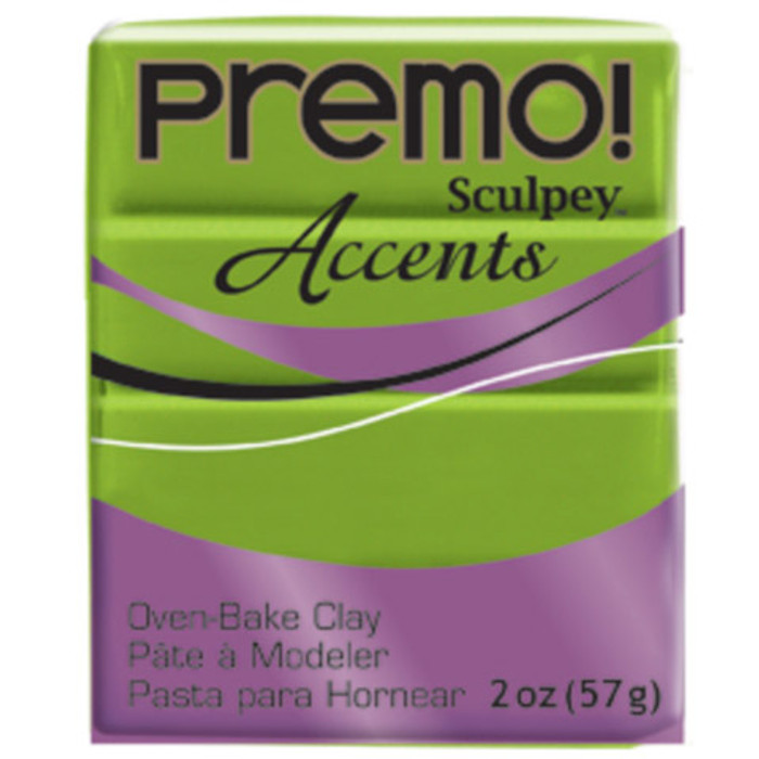 Sculpey Premo Accents Polymer Clay 2oz Bright Green Pearl