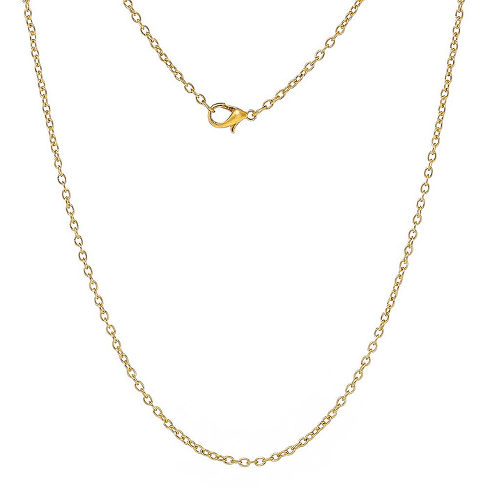12 Pack Gold Plated 2mm Cable Chain 30 Inch