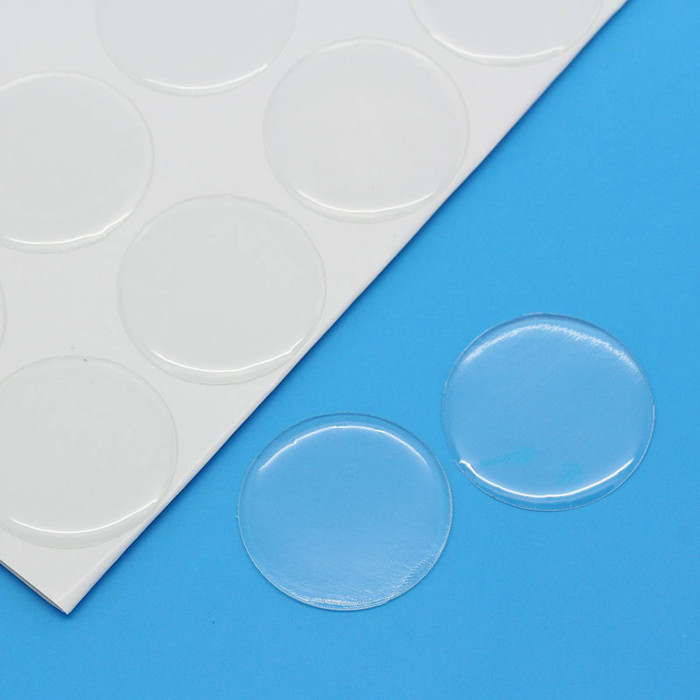 60 Clear Resin Cabochon Sticker Clear 25mm 1 Inch