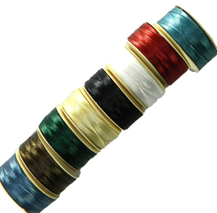 "D Nymo Nylon Seed Bead Thread Sized 8 Bobin Mix 0.012"" 0.34mm"