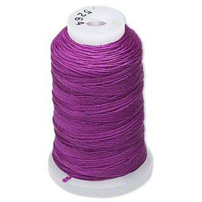 Silk Beading Thread Cord Size FF Plum 0.015 Inch 0.38mm Spool 115 Yd