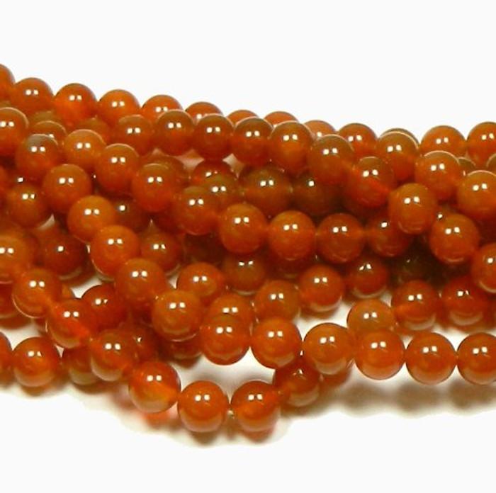 "10mm Carnelian Round Beads 40cm 15"" Stone"