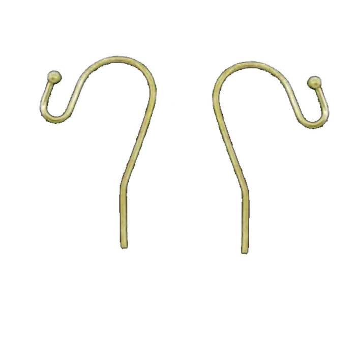 200 Earwires Gold Plated Copper Ear Wire Hooks Earring Findings Ball End 21x12mm 100 Pair