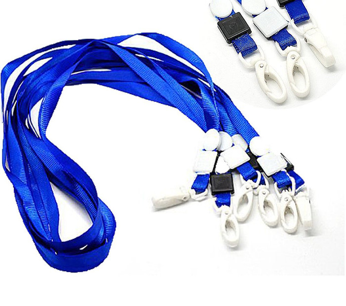 20 Economy Blue Neck Strap Lanyard for Id Card 16 Inch Long
