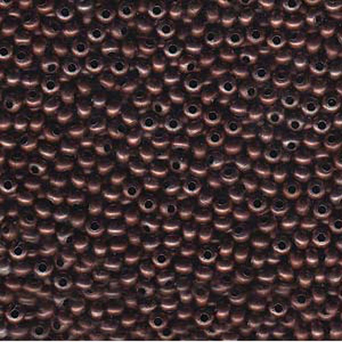 8/0 Metal Seed Bead Antique Copper Approx 38 Grams