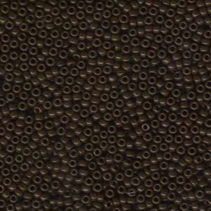 Brown Opaque Miyuki 11/0 rocailles glass seed beads 24 grams
