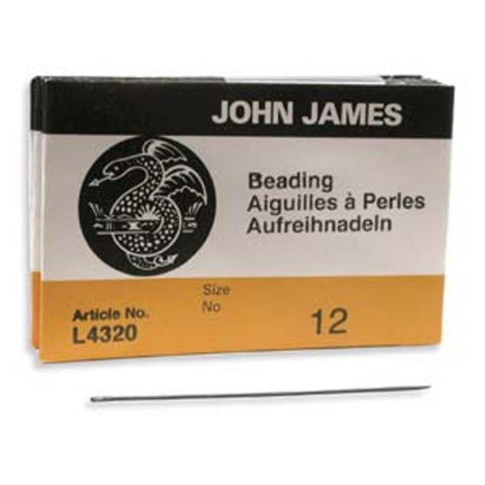 John James English Beading Needles Size 12 - Pack of 25