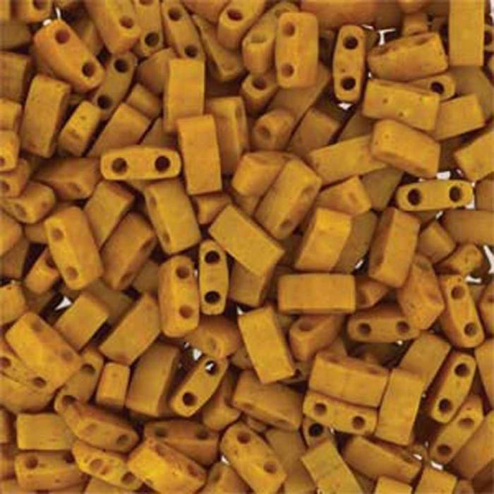 Mustard Half Tila Beads 7.2 Gram Miuki Square 5mm 2 hole