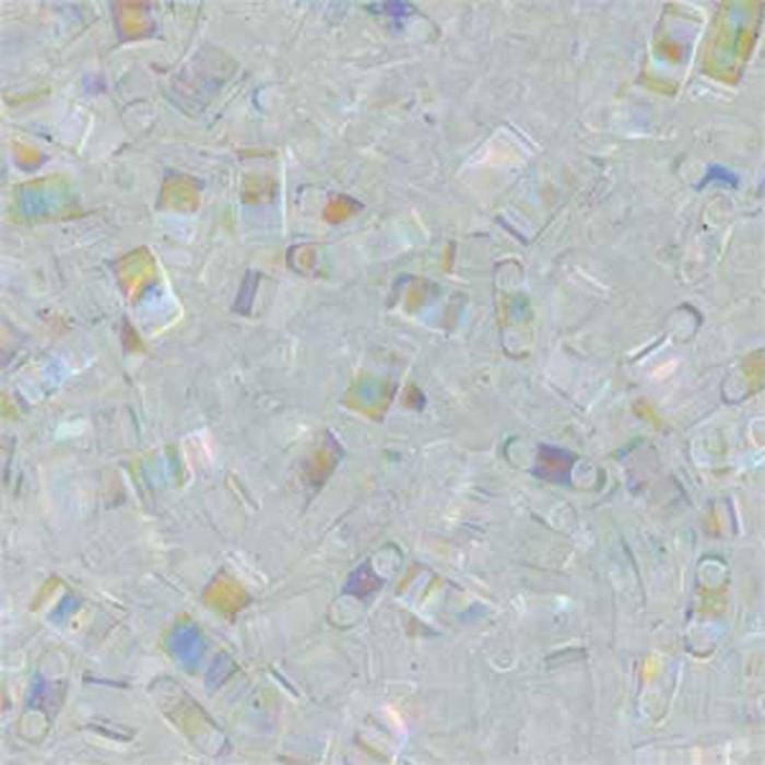 Crystal AB Half Tila Beads 7.2 Gram Miuki Square 5mm 2 hole