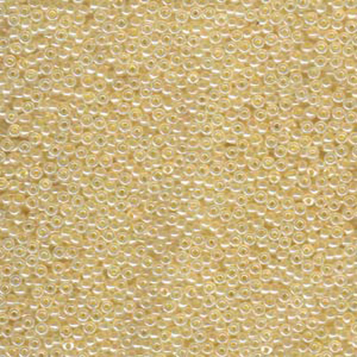 Beige Ceylon Miyuki 11/0 rocailles glass seed beads 24 grams