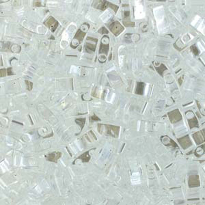 Crystal Luster Half Tila Beads 7.2 Gram Miuki Square 5mm 2 hole