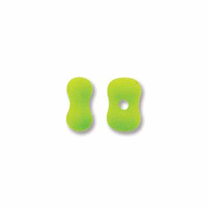 Lime Neon Butterfly Beads 4x6mm 50 to 57 Bead Loose Strand