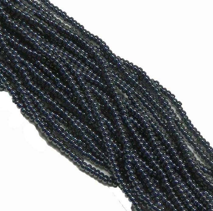 Gunmetal Preciosa Czech Glass 6/0 Seed Bead on Loose Strung 6 String Hank