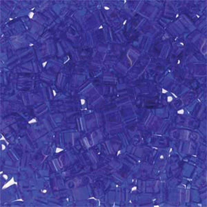 Colbalt Half Tila Beads 7.2 Gram Miuki Square 5mm 2 hole