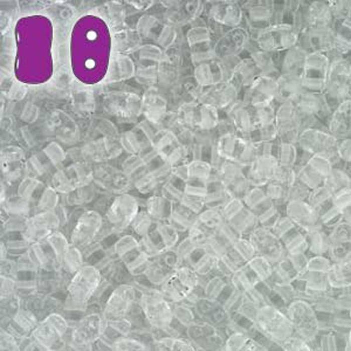 Crystal BI-BO Czech Glass 2 hole Seed Beads 5.5x2.8mm 22gr