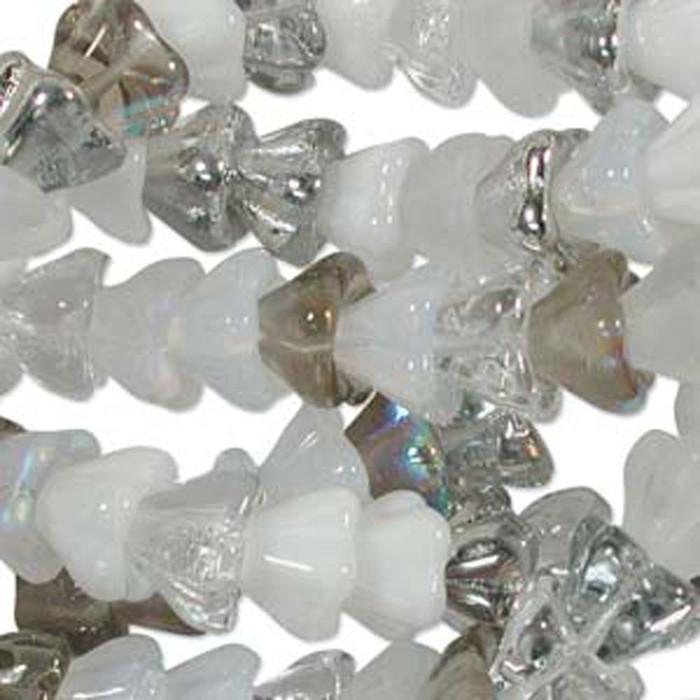Apparition Mix 10x13mm Flower Cone 45 Bead Cap Czech Glass Beads