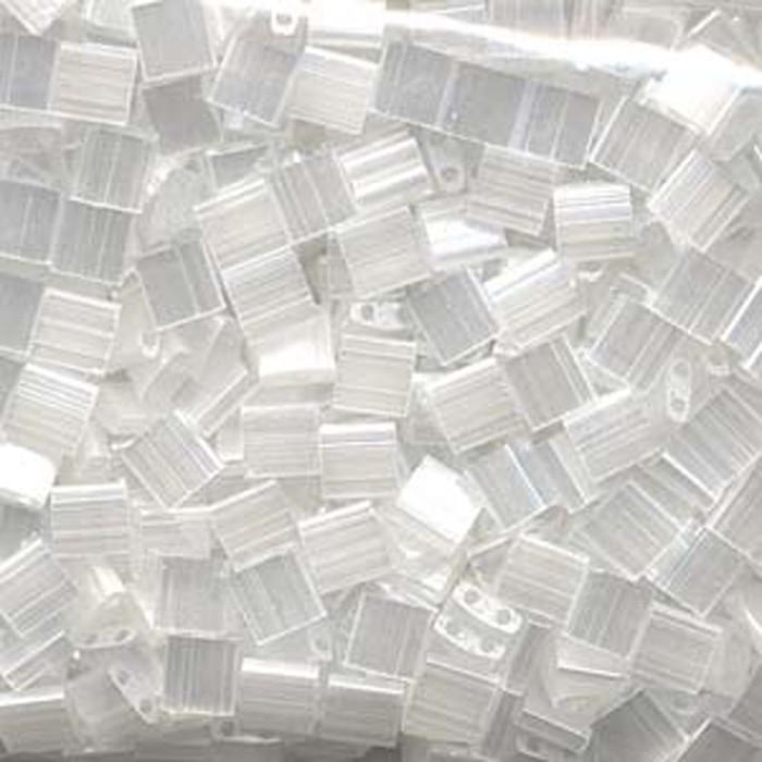 Crystal Silk Satin Miyuki Tila Beads 7.2gm 2 Hole Seed Bead 5x5mm