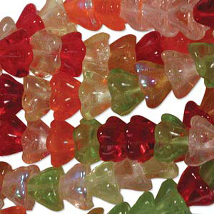 Tango Mix 10x13mm Flower Cone 45 Bead Cap Czech Glass Beads