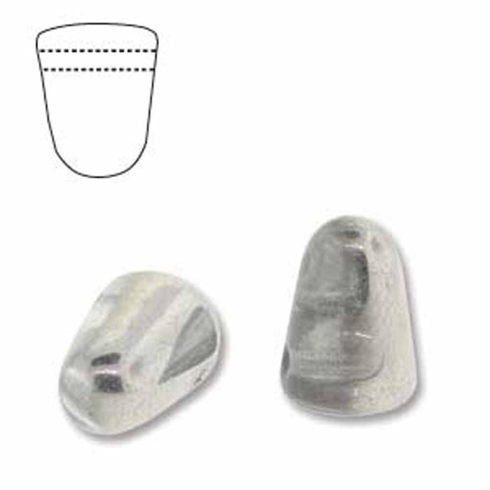 Crystal Labradore 20 Czech Glass Gumdrop Beads 7.5x10mm