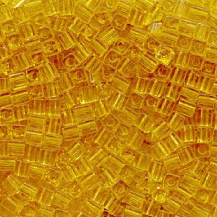 20Gr Amber Tr Miyuki 4mm Square Cube Glass Seed Beads