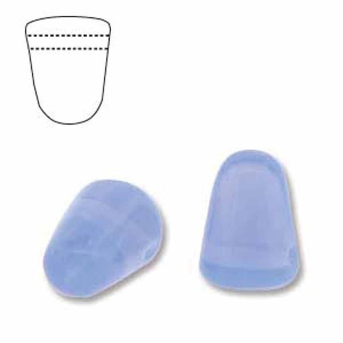 Milky Sapphire 20 Czech Glass Gumdrop Beads 7.5x10mm