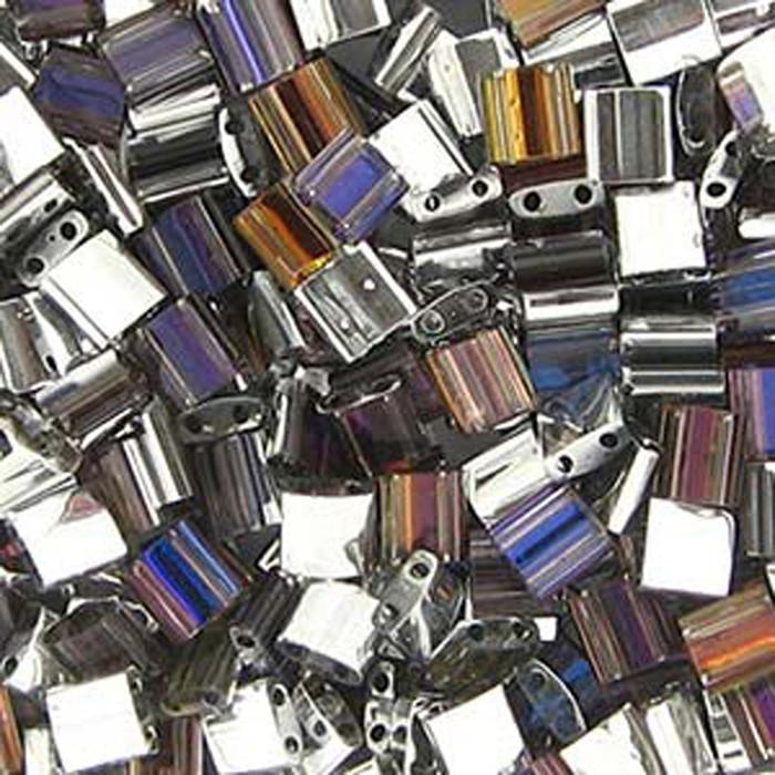 Crystal Helio Miyuki Tila Beads 7.2gm 2 Hole Seed Bead 5x5mm