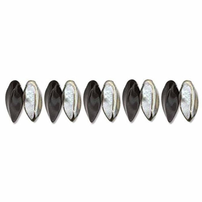 Jet Chrome Czech Glass Twist Beads 6x12mm Apprx 25 bead loose strand