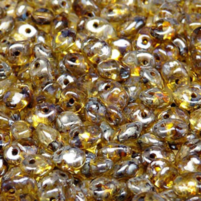 Crystal Picasso 2.5x5mm 1 ONE Hole Fringe Czech Glass Seed Beads 20gr