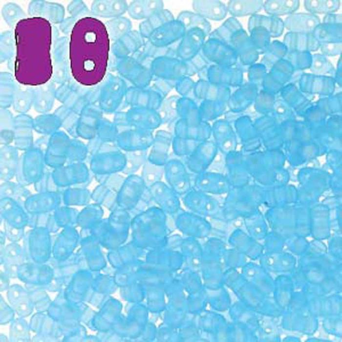 Aqua Matte BI-BO Czech Glass 2 hole Seed Beads 5.5x2.8mm 22gr